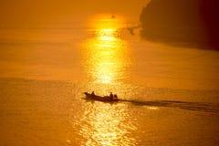 Het leven van de visser van Thailand Royalty-vrije Stock Afbeelding