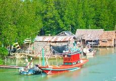 Het leven van de vissersmens Stock Foto