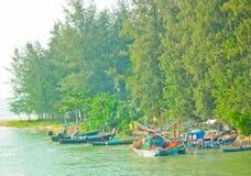 Het leven van de vissersmens stock foto's