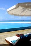 Het leven van de vrije tijd in de Maldiven Stock Foto's