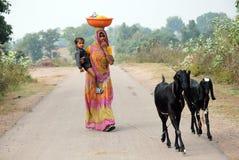 Het Leven van het dorp in India Royalty-vrije Stock Afbeeldingen