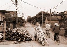 Het leven van het dorp, Vietnam Stock Foto