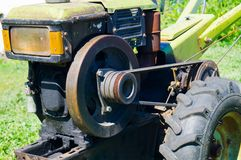 Het leven van het land tractor ukraine royalty-vrije stock afbeelding