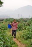 Het leven van landbouwers stock foto's