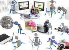 Het leven van stuk speelgoed mensen Stock Afbeeldingen