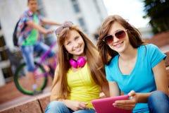 Het leven van tieners Stock Foto's