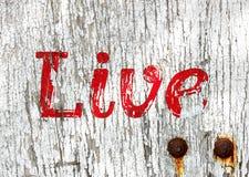 Het levende houten teken van Grunge Royalty-vrije Stock Afbeeldingen