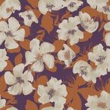Het levendige bloemen herhalen Stock Afbeelding