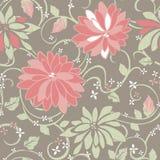 Het levendige bloemen herhalen Stock Foto