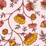 Het levendige bloemen herhalen Stock Foto's