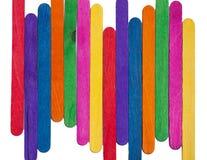 Het levendige houten close-up van de kleurengolf stock illustratie