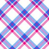 Het levendige kleuren geruite patroon oriënteerde diagonaal naadloze tegel Royalty-vrije Stock Foto