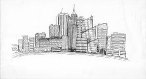 Het levenscityscape van de stad Stock Afbeelding
