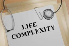 Het levensingewikkeldheid - medisch concept Stock Foto
