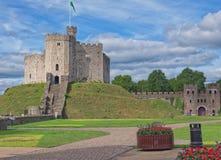 Het levensonderhoud van het Kasteel van Cardiff, Wales royalty-vrije stock foto