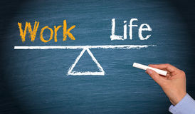 Het levenssaldo van het werk Stock Foto