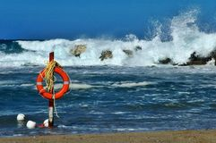 Het levensspaarder van het strand Stock Afbeelding