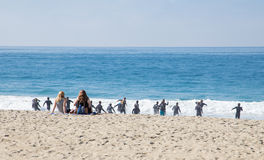 Het Levenswachten van Laguna Beachcalifornië in Opleiding Stock Fotografie