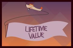 Het Levenwaarde van de handschrifttekst De Waarde van de conceptenbetekenis van de klant over het leven van de zaken royalty-vrije illustratie