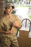 Het leveren van pakket Stock Afbeelding