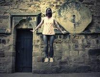 Het levitatie ondergaan van Kwaad Zombiemonster stock illustratie