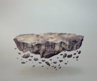 Het levitatie ondergaan van rotsen Stock Afbeelding