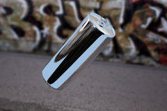 Het levitatie ondergaande aluminium kan Royalty-vrije Stock Afbeelding