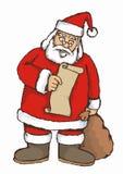 Het lezen van de kerstman Royalty-vrije Stock Foto