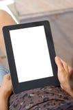 Het lezen van e-Boek Stock Fotografie