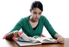 Het lezen van een boek Royalty-vrije Stock Afbeeldingen