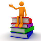 Het lezen van het boek Stock Afbeelding