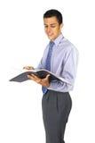 Het lezen van nota's Stock Foto's