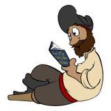 Het lezen van Piraat Stock Fotografie