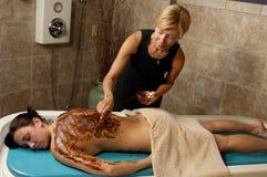 Het Lichaam van de Cacao van het kuuroord schrobt Royalty-vrije Stock Fotografie
