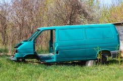 Het lichaam van de gebroken auto na het ongeval royalty-vrije stock fotografie