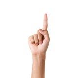 Het lichaam van het vingerdeel Stock Afbeeldingen