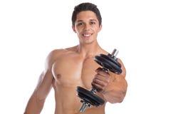 Het lichaamsbouwer die van bodybuilder bodybuilding spieren sterke fu bouwen Royalty-vrije Stock Afbeelding