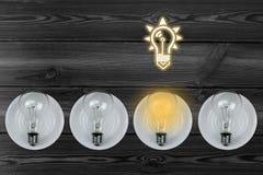 Het licht is  Stock Foto