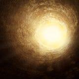 Het licht aan het eind van de tunnel Stock Afbeeldingen
