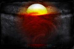 Het Licht en dark van zonsopgangkleuren komen uit de Nieuwe Zon van het Strand Zuid- van Florida Royalty-vrije Stock Afbeeldingen