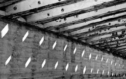 Het Licht en de Schaduwen van de Lijnen van de bouw Stock Foto's