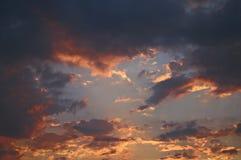 Het licht en de wolken Stock Foto