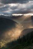 Het licht gaat door regen Royalty-vrije Stock Fotografie