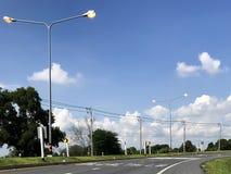 Het licht glanst op de weg Stock Fotografie
