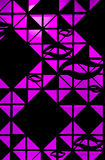 Het licht op de zwarte murenachtergrond Royalty-vrije Stock Afbeelding