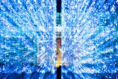 Het Licht van Bangkok van Gelukfestival Stock Foto