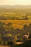 Het licht van de avond, Ingleton dorp, Noord-Yorkshire Royalty-vrije Stock Fotografie