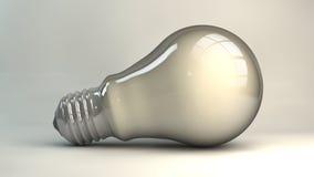 Het licht van de bol om het idee te krijgen Stock Foto's