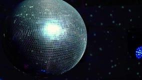 Het licht van de discobal stock video