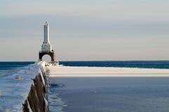 Het Licht van de Golfbreker van Washington van de haven royalty-vrije stock afbeeldingen
